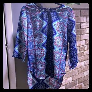 Multicolored blouse, medium